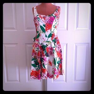 Floral cotton tank dress
